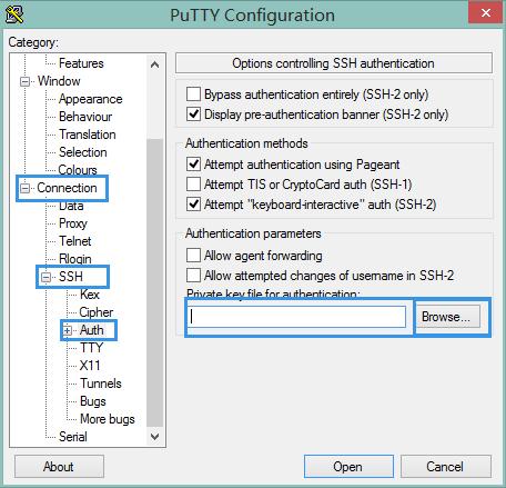 PuTTY 认证登录配置