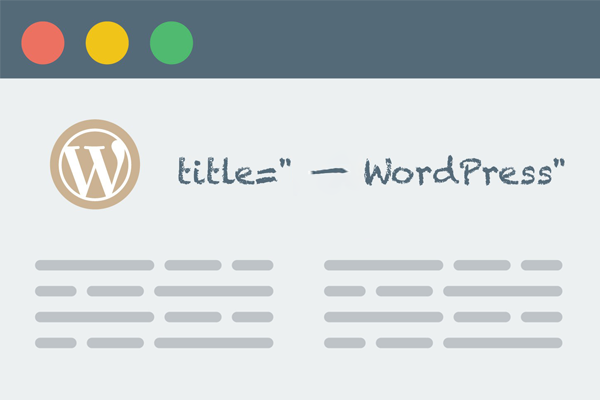 移除 WordPress 标题
