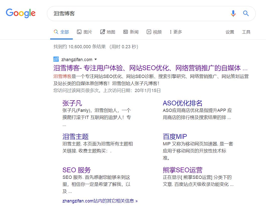 zhangzifan blog Google search