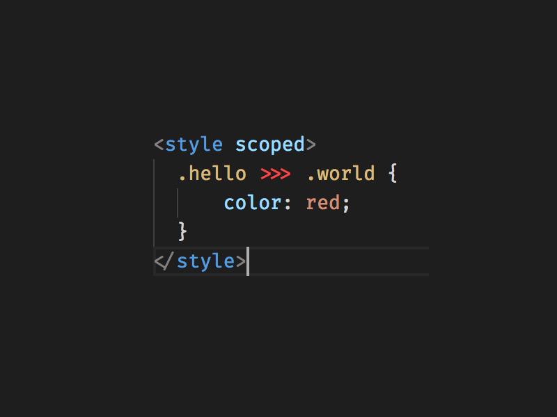 style scoped 穿透